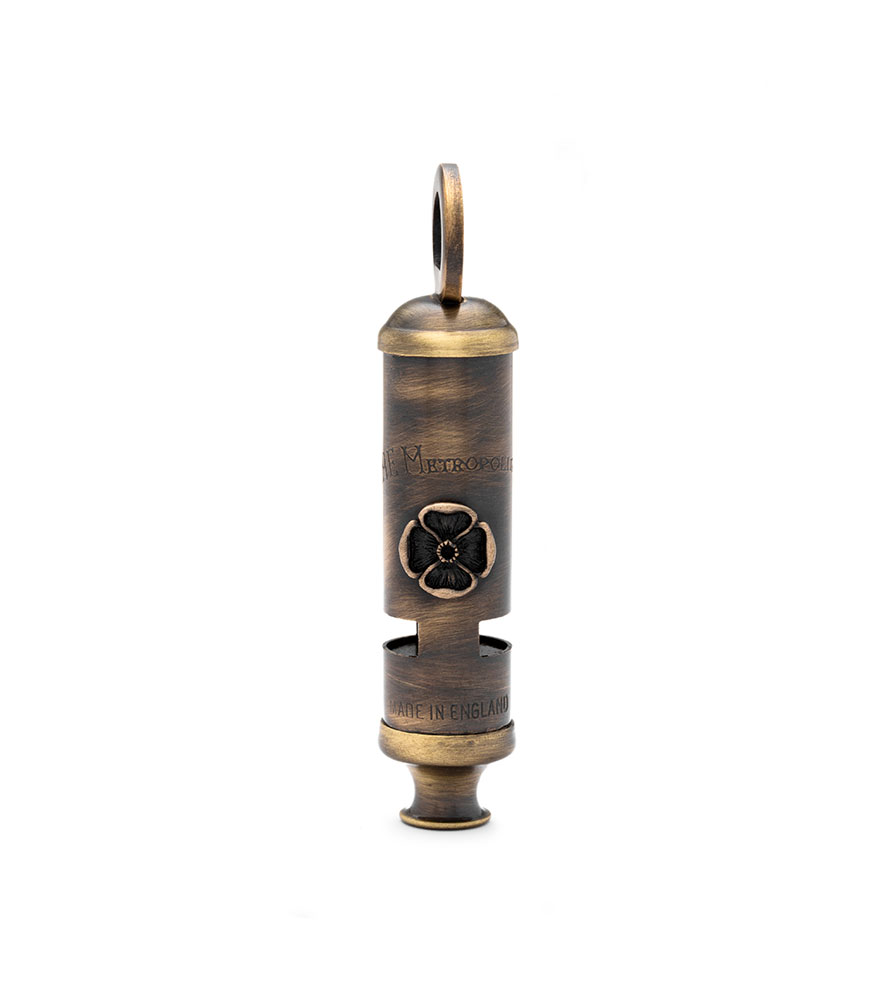 Acme Metropolitan (Bobby) PEACE Whistle 15PW Antique Brass