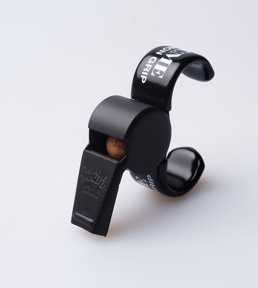 Acme Thunderer (Referee/Coach) Whistle 477/59.5 Medium Matt Black w/Finger Grip