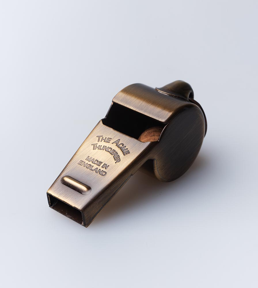 Acme Thunderer (Referee/Coach) Whistle 58.5 Large Antique Brass