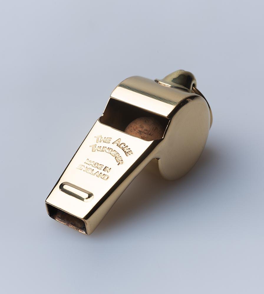 Acme Thunderer (Referee/Coach) Whistle 58.5 Large Polished Brass