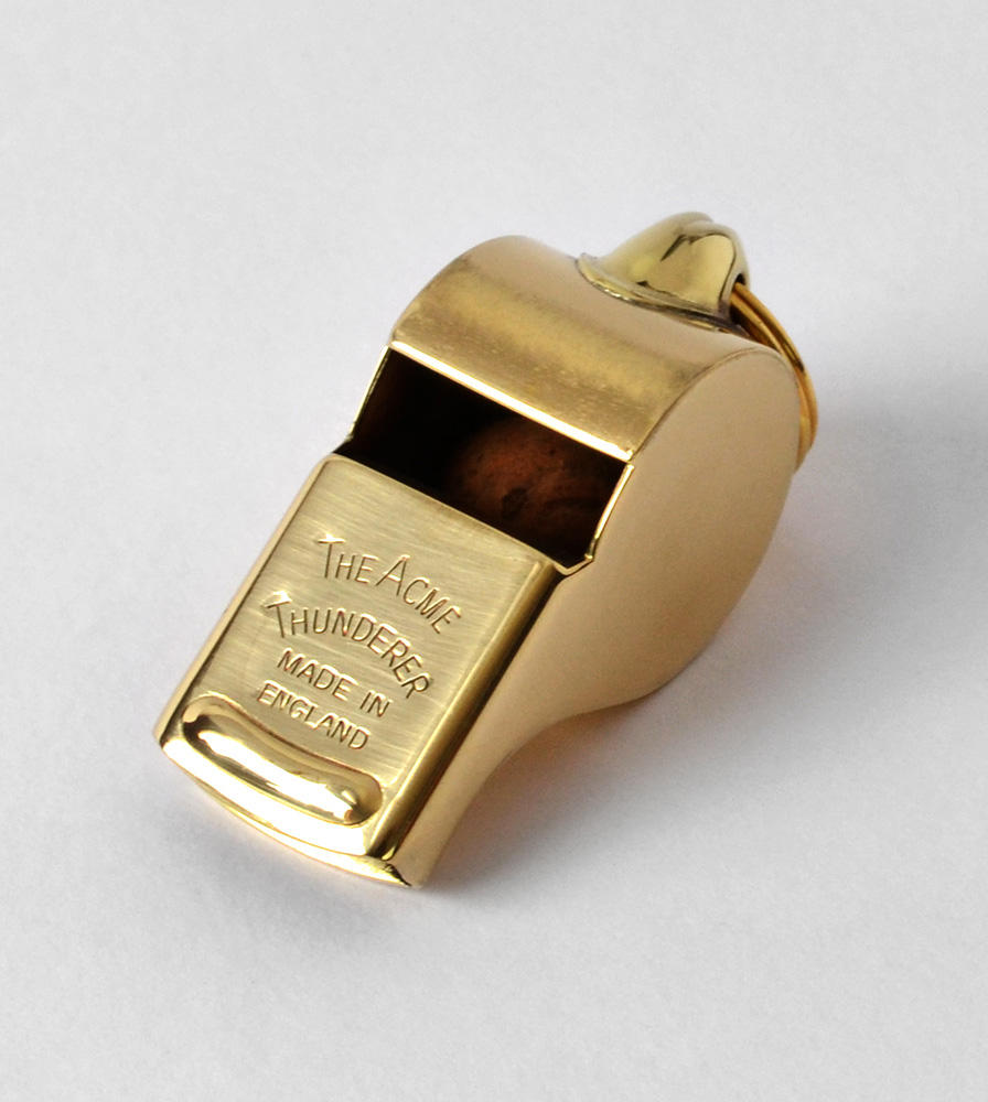 Acme Thunderer (Referee/Coach) Whistle 58 Square Mouthpiece Polished Brass