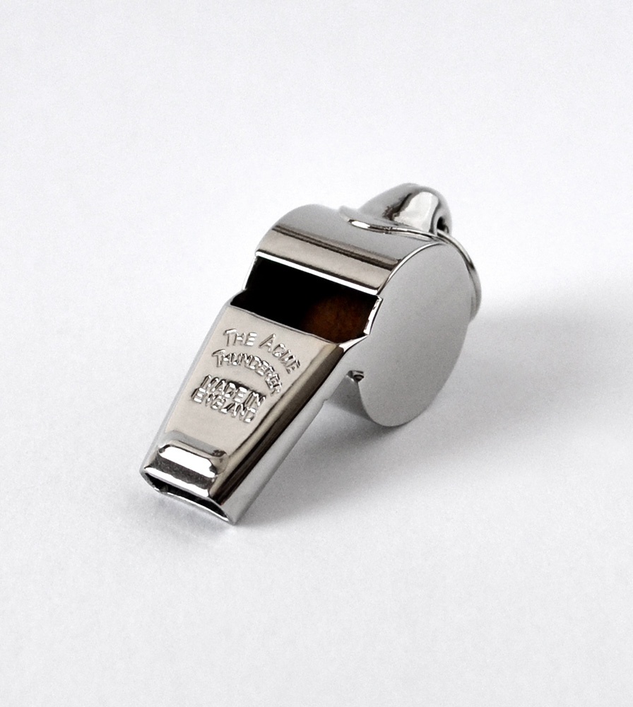 Acme Thunderer (Referee/Coach) Whistle 60.5 Small Nickel Plated