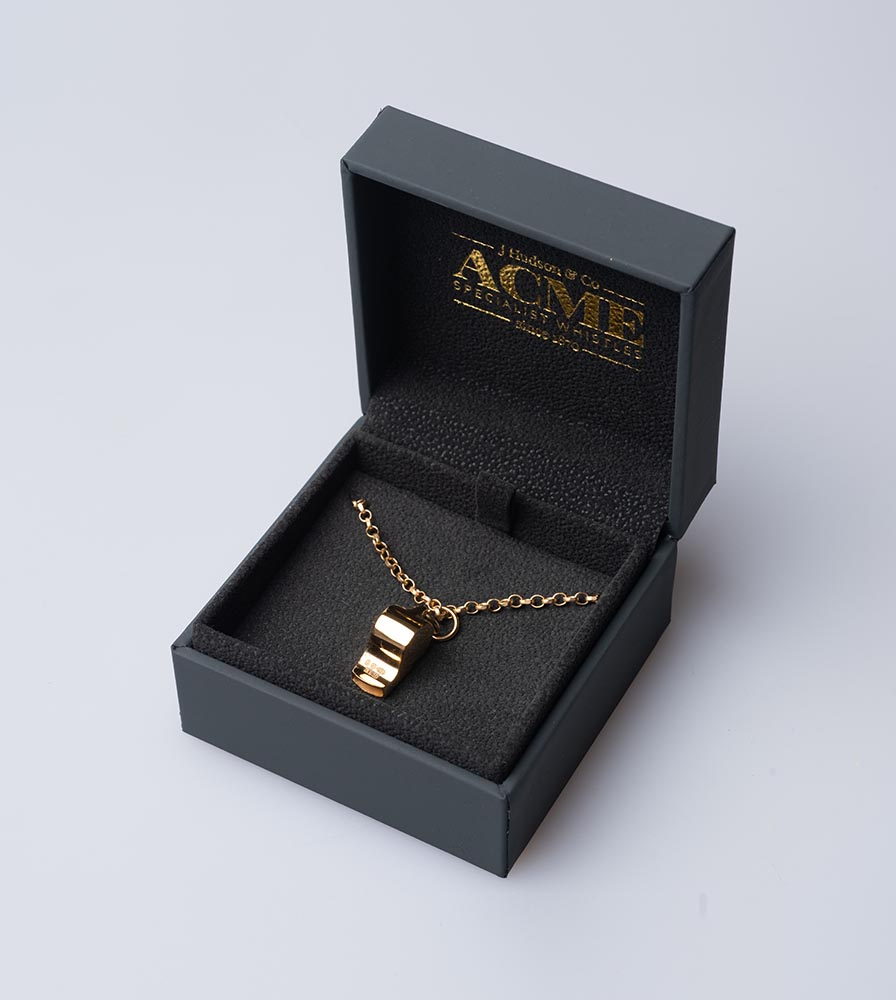 Acme Miniature Whistle Necklace - Gold Plated