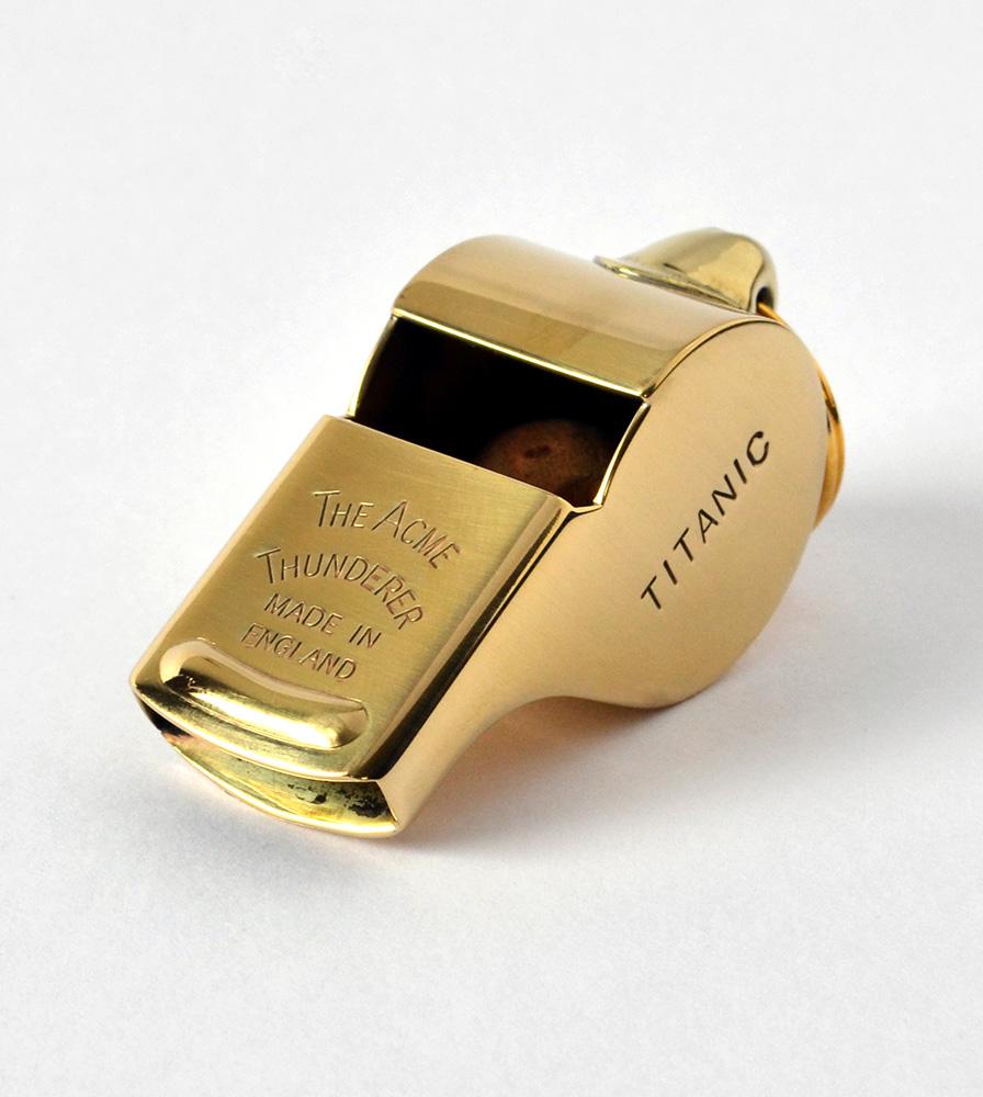 Acme Thunderer Titanic Mates Whistle - Polished Brass SS57PB