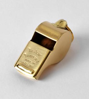 Acme Thunderer (Referee/Coach) Whistle 58 Square Mouthpiece Nickel Plated Acme Thunderer (Referee/Coach) Whistle 58 Square Mouthpiece Polished Brass