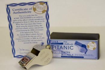Acme Thunderer Titanic Commemorating 100 Years of the Titanic - Nickel Plated