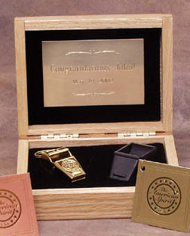 Award - American Spirit Whistle Gold