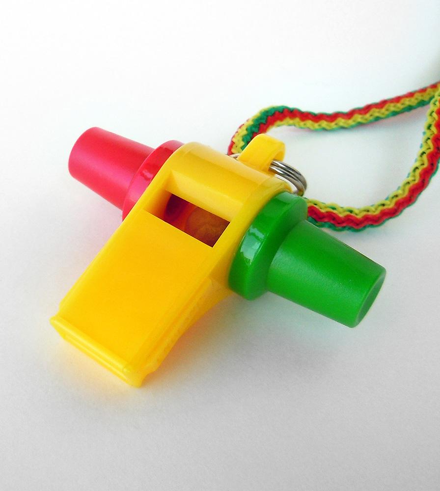The Acme Multi-Color Mardi Gras Samba Carnival Whistle #475