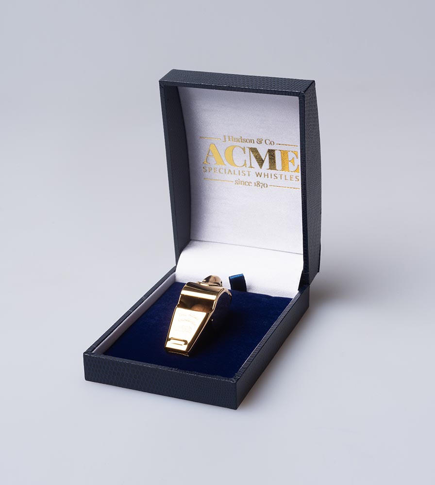 Acme Thunderer (Referee/Coach) Whistle 60.5 Small Gold Plated